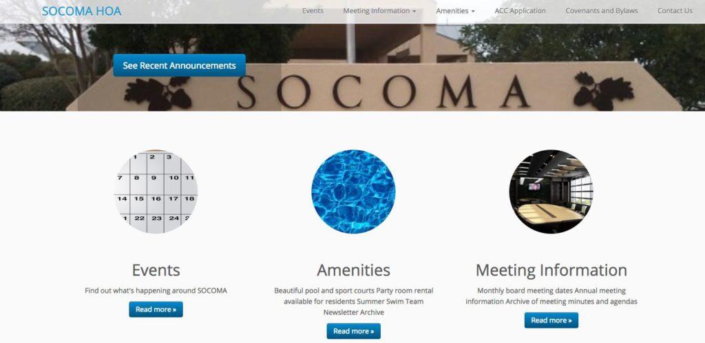 Community CIO completed a responsive design for SOCOMAHOA.com